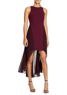 Halston Heritage Colorblock High/Low Dress
