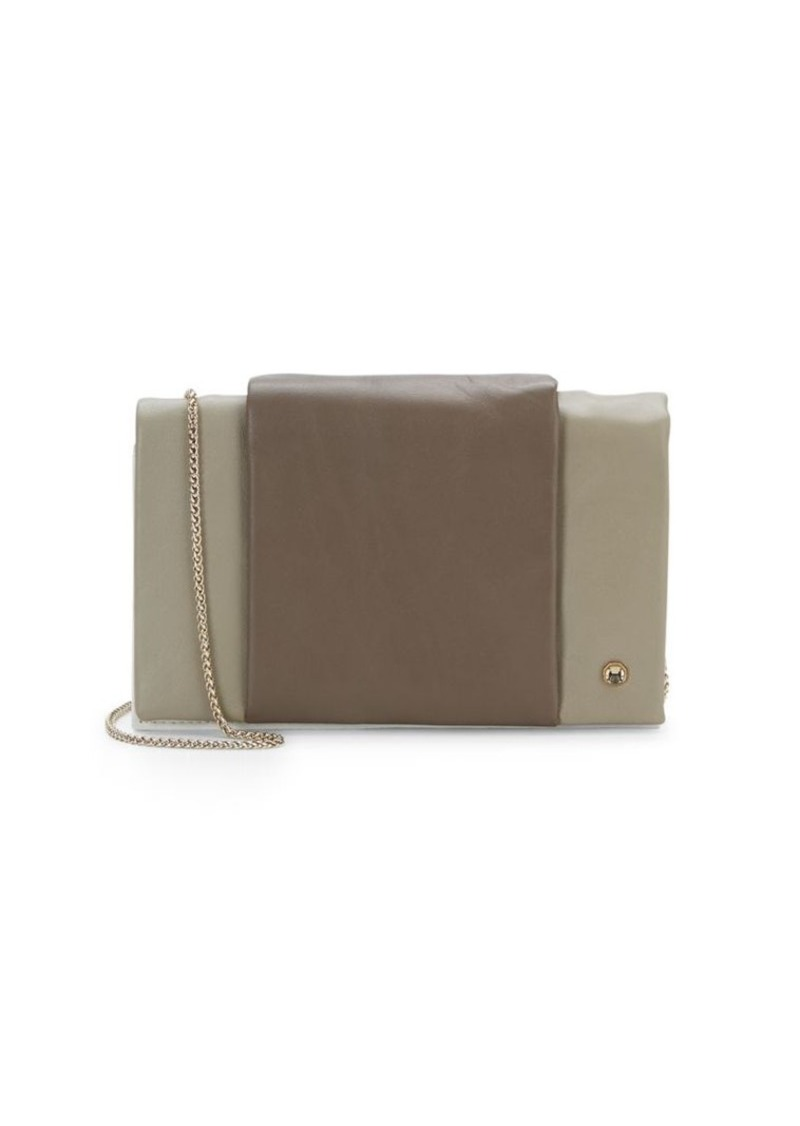 Halston Heritage Colorblock Leather Chain Wallet