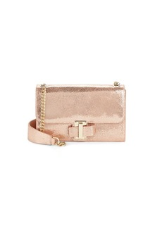 Halston Heritage Convertible Metallic Leather Clutch