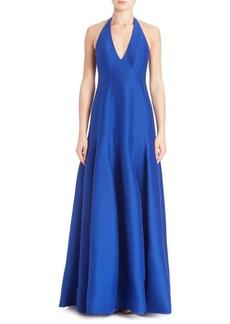 Cotton & Silk Halter Gown