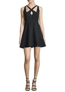 Halston Heritage Crisscross-Front Fit-&-Flare Dress