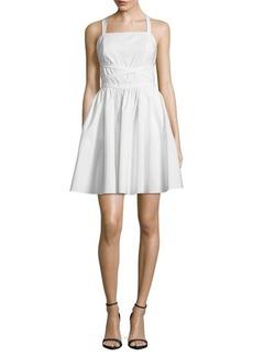 Crisscross Strap Mini Dress