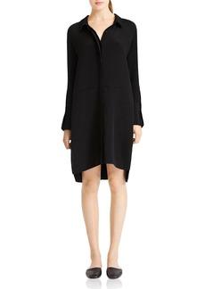 HALSTON HERITAGE Curved Hem Shirt Dress