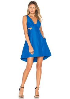 Halston Heritage Cut Out Dress in Blue. - size 0 (also in 2,4,8)