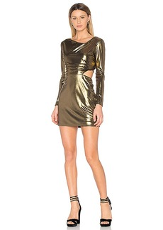 Halston Heritage Cut Out Dress in Metallic Bronze. - size 2 (also in 4,6)