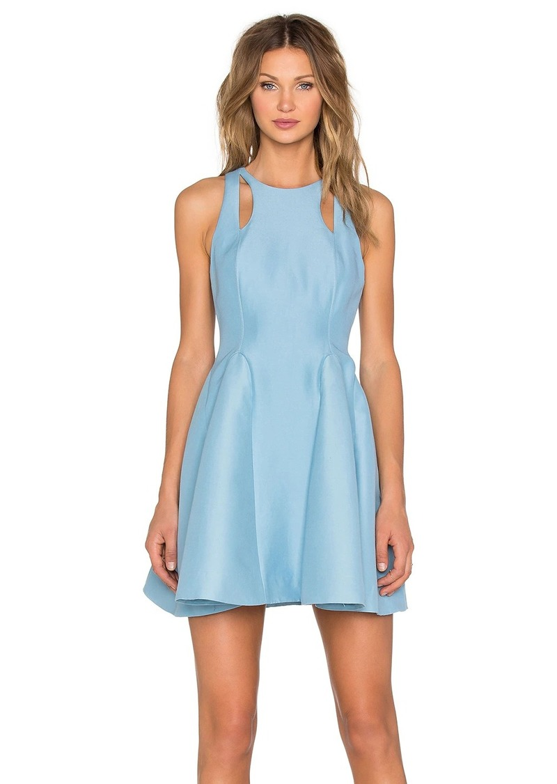 Halston Heritage Cut Out Fit & Flare Dress