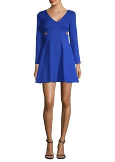 Cut-Out Fit-and-Flare Dress