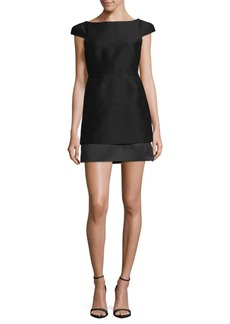 Halston Heritage Cut-Out Mini Sheath Dress