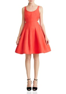 HALSTON HERITAGE Cutout Fit-and-Flare Dress