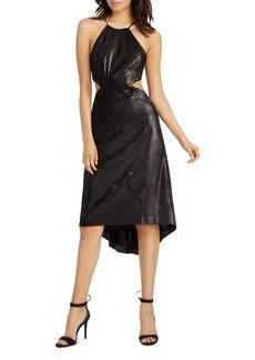 HALSTON HERITAGE Cutout Sequin Dress