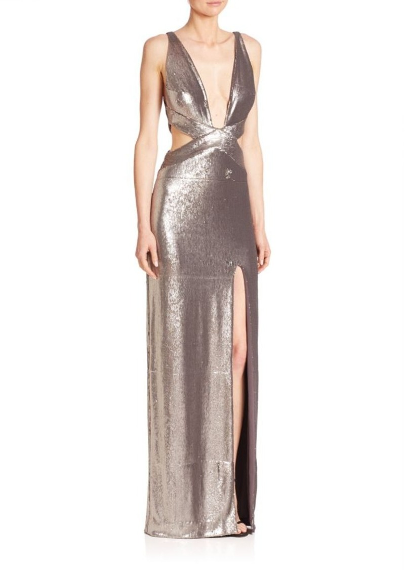 336fcbbeb4 On Sale today! Halston Heritage Halston Heritage Cutout Sequined Gown