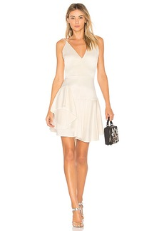 Halston Heritage Deep V Neck Cami Dress in Ivory. - size 0 (also in 2,4)