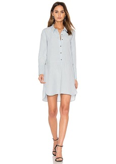 Halston Heritage Detachable Wrap Skirt Dress in Baby Blue. - size 2 (also in 0,4)