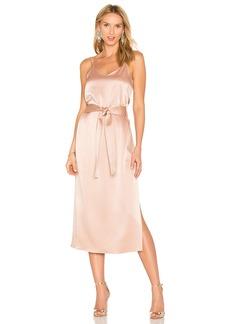 Halston Heritage Double Strap Slip Dress