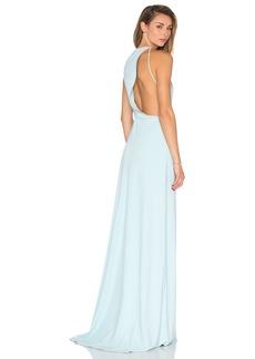 Halston Heritage Drape Back Cutout Dress