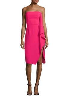 Halston Heritage Drape Knee-Length Dress
