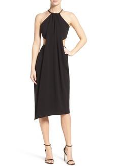 Halston Heritage Drape Midi Dress