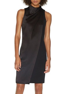 HALSTON HERITAGE Draped-Neck Dress