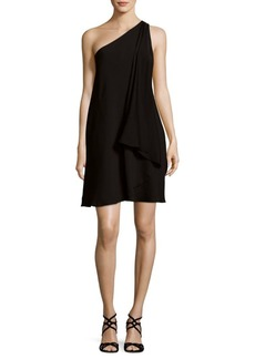 Halston Heritage Draped One-Shoulder Dress