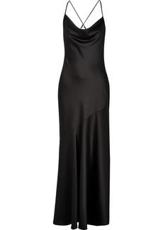 Halston Heritage Draped Satin Gown