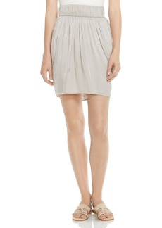 HALSTON HERITAGE Draped Satin Skirt