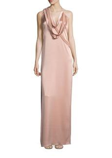 Halston Heritage Draped Slip Gown