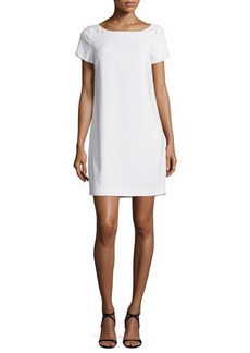 Halston Heritage Embellished-Back Shift Dress