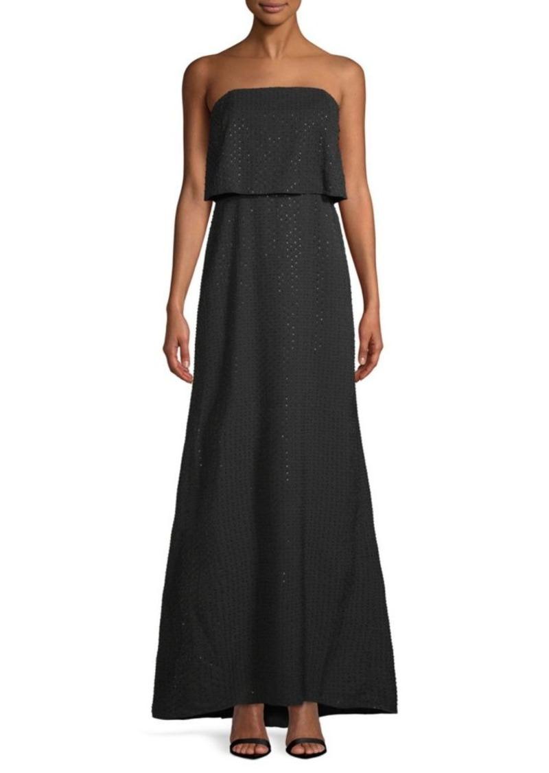 Halston Heritage Embellished Floor-Length Dress