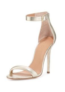 Halston Heritage Ester Ankle-Strap Leather Sandal