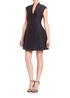 Halston Heritage Cotton-Silk Structured Dress