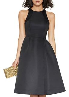 HALSTON HERITAGE Faille Cutout Dress