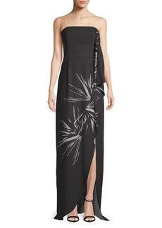 Halston Heritage Floor-Length Strapless Gown