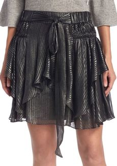 Halston Heritage Flounce Pull-On Mini Skirt