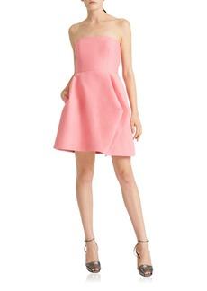 Folded Drapes Silk Faille Dress