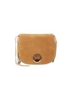 Halston Heritage Foldover Leather Saddle Bag