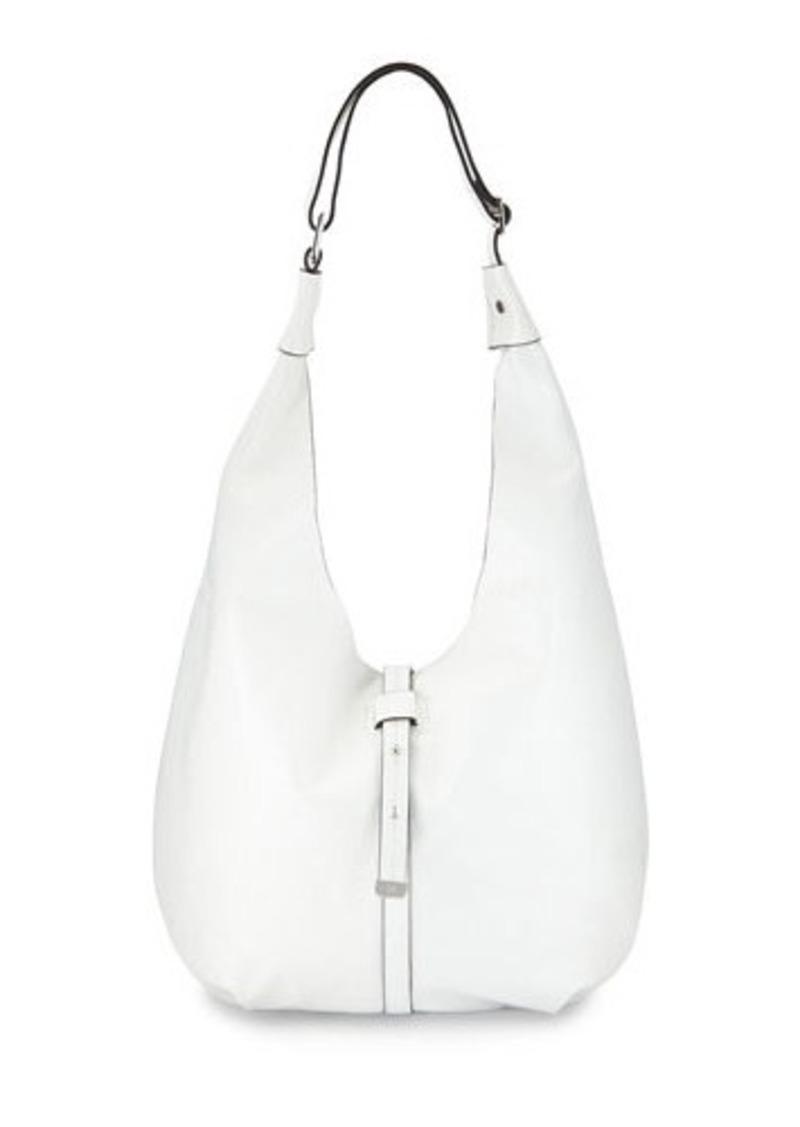 Halston Heritage Front-Closure Leather Hobo Bag