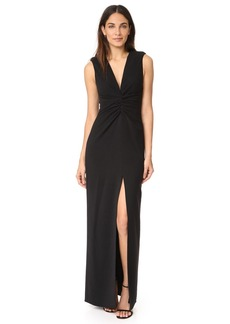 Halston Heritage Gathered Front Gown