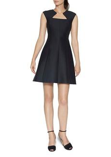 HALSTON HERITAGE Geometric Neck Dress