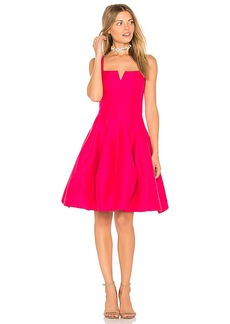 Halston Heritage Geometric Neck Dress in Red. - size 2 (also in 0,4,8)