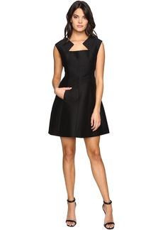Geometric Neck Structured Dress