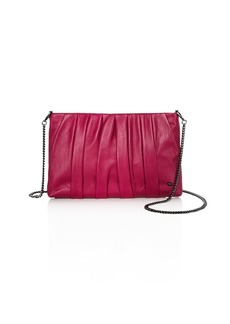 HALSTON HERITAGE Grace Ruched Leather Clutch