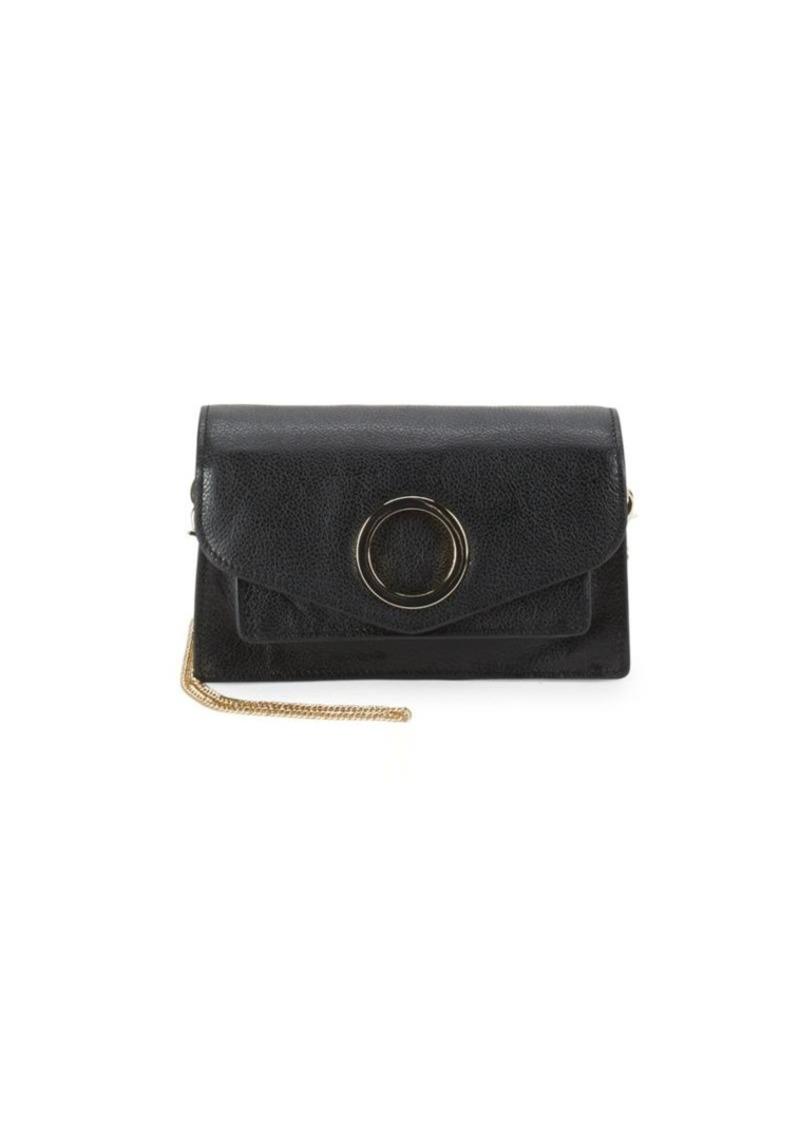 8392e2884 On Sale today! Halston Heritage Halston Leather Foldover Crossbody Bag