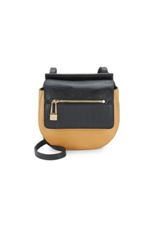 Halston Heritage Halston Leather Two-Tone Saddle Bag