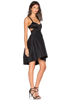 Halston Heritage Halter Cut Out Dress