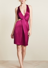 Halston Heritage Halter Cutout Dress