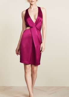Halston Heritage Halter Cutout Dress
