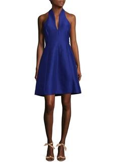 Halston Heritage Halter Fit-&-Flare Dress