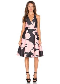 Halston Heritage Halter Floral Dress