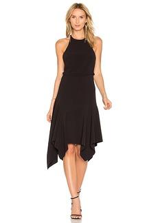 Halston Heritage Halter Midi Dress in Black. - size 0 (also in 2,4,6)
