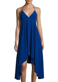 Halston Heritage Halter-Neck Crepe Dress